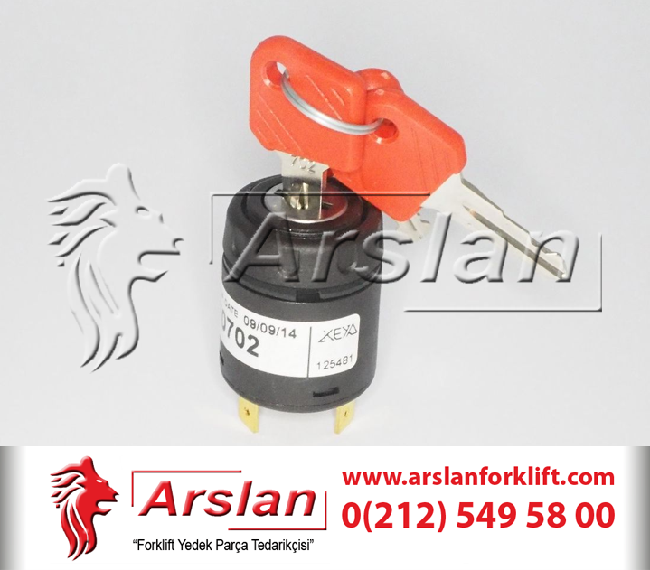 JUNGHEINRICH SWITCH ASY STARTER - 28526100 / IGNITION SWITCH 701 - Kontak Seti (Forklift Yedek Parça)